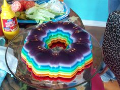 rainbow bright jello by Julie Cupcake, via Flickr