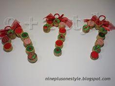 Bastoncini natalizi col sughero - Christmas candy sticks with cork