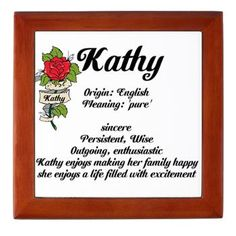 Kathy name meaning design Keepsake Box> Female Name Meanings A-M> Inspiration Station People Names, Names With Meaning, Note To Self, Keepsake Boxes, How To Be Outgoing, Google Images, Letter Board, Meant To Be, Wisdom