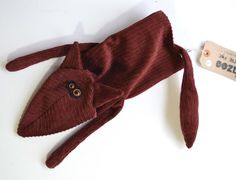 Fox Hand Puppet corduroy glove puppet