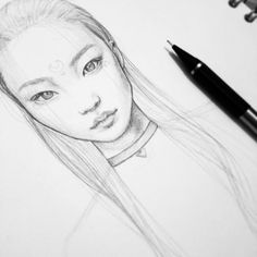 Portrait sketch : drawing