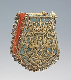 Bag (Pouch) Date: 1730–50 Culture: Russian Medium: silk, metal The Metropolitan Museum of Art