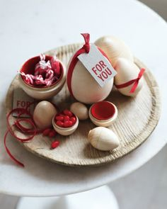 Red cotton ribbon for easter decorating: Martha Stewart Living