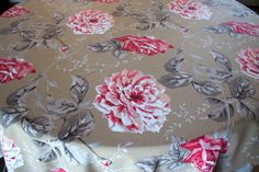 A personal favorite from my Etsy shop https://www.etsy.com/listing/231752451/beautiful-floral-sand-color-fabric-with