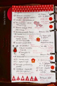 She's Eclectic: My week in my Filofax #48 - close up