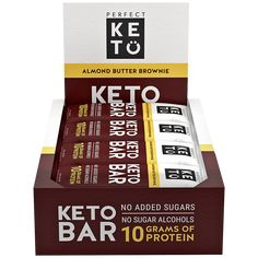 Too much protein can kick you out of ketosis. Luckily, there are low carb keto-friendly protein bars that you can eat and keep your ketogenic diet needs in balance. Keto Friendly Protein Bars, Low Carb Bars, Low Carb Protein Bars, Keto Bars, Keto Friendly Desserts, Pure Protein, Healthy Diet Recipes, Keto Snacks, Keto Recipes