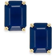 kate spade new york Gold-Tone Emerald-Cut Stud Earrings (£25) ❤ liked on Polyvore featuring jewelry, earrings, goldtone jewelry, gold tone jewelry, kate spade earrings, stud earring set and kate spade jewelry