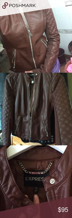 Express Brown Jacket New! This isn't my kind of style I have never worn this jacket. It's brand new. Offers welcome. Express Jackets & Coats