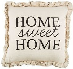 "Light up your home with natural beauty. This adorable ""home sweet home"" burlap pillow is the perfect decorative pillow to create a welcome space in your home!"