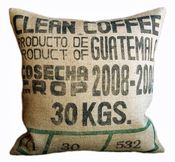 Coffee Bean bag #cushion #burlap