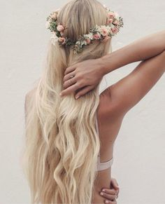 Simple and soft flower crown