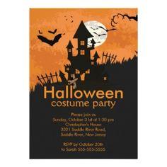 Haunted House Halloween Invitations
