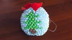 Image result for origami flower ball ornaments