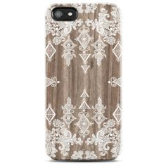 PAISLEY iPhone case Tribal iPhone 4 case iPhone 4s case Cute iphone case FAUX wood iPhone 5s case white iphone 5 case boho iPhone Case (€15) found on Polyvore
