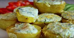 fenseges-burgonya-fokhagymas-turokremmel-ez-lett-a-ferjem-kedvenc-burgonyas-etele Romanian Food, Potato Salad, Muffin, Goodies, Potatoes, Yummy Food, Breakfast, Ethnic Recipes, Potato