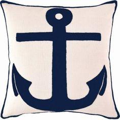 Fresh American Admiral Ivory & Navy Indoor / Outdoor Pillow
