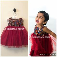 Baby Baby Lehenga, Kids Lehenga, Baby Dress Design, Frock Design, Kids Dress Wear, Kids Wear, Kalamkari Dresses, Kids Ethnic Wear, Wedding Dresses For Kids