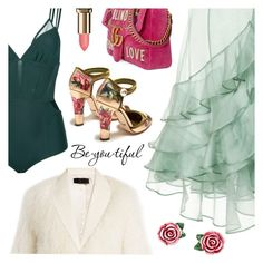 """Outfit of the Day"" by sproetje ❤ liked on Polyvore featuring Johanna Ortiz, Giuliana Romanno, Haider Ackermann, Gucci, Dolce&Gabbana, L'Oréal Paris, Schone, ootd, contestentry and WearIt"