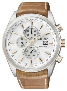 Citizen Herren-Armbanduhr XL Analog Quarz Leder AT8017-08A   Your #1 Source for Watches and Accessories