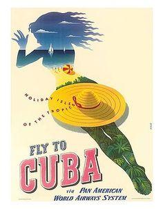 cuba,cuban,beach,tropical,sailing,vacation,pan american,holiday,isles,tropics,vintage airline,travel poster,julius seyler,vintage travel poster,retro,poster art,vintage advertising,vintage travel