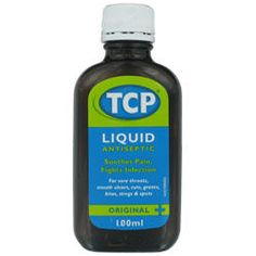 Tcp Liquid Antiseptic Original A must for cleaning wounds (diluted for children) or to gargle when you have a sore throat.