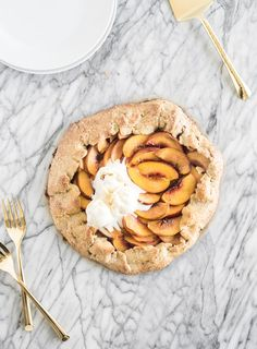 Whole Wheat Peach Galette - Lively Table | I made this with coconut palm sugar and nectarines