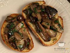 Bruschetta cu ciuperci