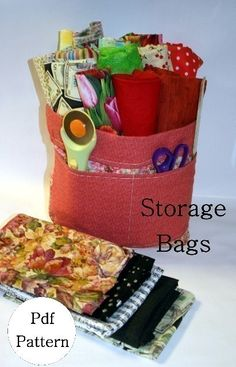 Storage Bags pdf Pattern by flowergirldesign on Etsy, $5.00
