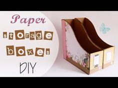 Tuto: raccoglitore per Carte scrap - ENG SUBS Paper Storage Boxes DIY - YouTube