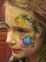 Christmas Face Painting Eye Mask