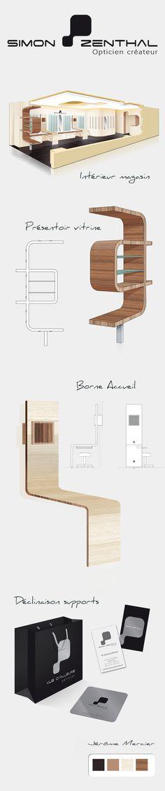Réalisation commerce  Simon Zenthal Créateur opticien Rue Saint Placide Paris Design concept meuble - Agencement  - PLV et outils d'aide à la vente