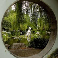 I want a round window in my garden.it reminds me of