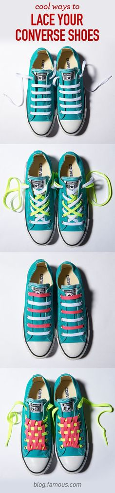 DIY laces are a great way to customize your Converse shoes! Check out the step-by-step instructions on our blog. For Sadie