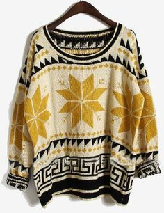 Snowflake Tribal Print Sweater