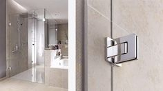 BARTELS DOORS :: Bartels - Modern Custom Interior Doors, Door Hardware, Modern Library Ladders and Shower Door Systems - Made in Germany - PRODUCTS - Shower Door Systems - Shower Door Hinges - HINGE – AGITUS M