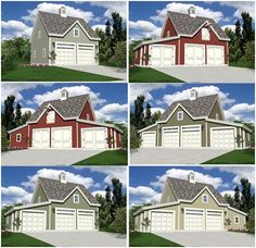 Detached Garages and Backyard Barns - Build any of 18 different layouts of 2, 3 or 4 car garages, workshops or small barns from one $29.00 set of plans. The architect-designed plan set downloads instantly to your printer and comes with a money-back guarantee.
