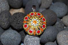 Image of Colorful Mandala Pendant Stone 24