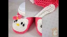 how to crochet booties with hello kitty