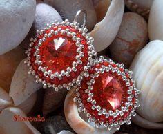 Padparadscha Sapphire Jewelry, Sapphire Gemstone, Pink Sapphire, Beading Jewelry, Gemstone Jewelry, Free Pattern, Christmas Bulbs, Swarovski, Jewelry Making