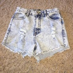 high- waisted Jean shorts NWOT Jean shorts- high waisted. Price is negotiable justso Shorts Jean Shorts