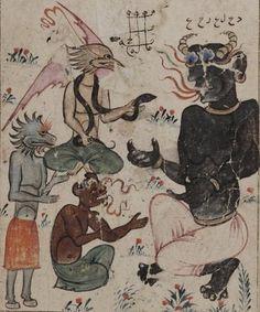 The Black King of the Djinns-Kitab al-bulhan ~15th century