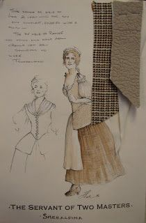 Costume Designer: Servant of Two Masters College Subjects, Costume Design Sketch, 17th Century Fashion, Historical Costume, Outlander, Sketches, Costumes, Masters, History