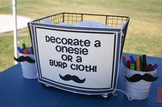 Decorate a onesie, burp cloth or bib