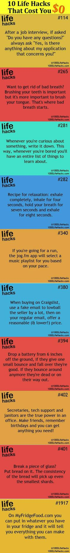 Awesome life hacks for any day of the week.