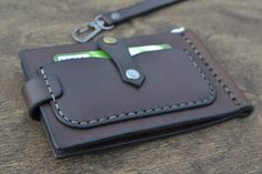 Leather Wallet on belt Men Wallet-Leather Card Holder by sergklim