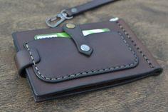 Leather Wallet on belt Men Wallet-Leather Card Holder by sergklim