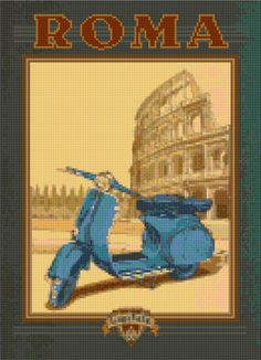 A personal favorite from my Etsy shop https://www.etsy.com/listing/288273931/cross-stitch-pattern-vintage-roma-italy