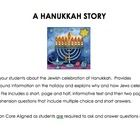 Hanukkah begins today! Teach your elementary students about the history of Hanukkah and why Jewish families celebrate it today with this two page nonfiction story.  Includes comprehension questions in multiple choice and short answer format. $2
