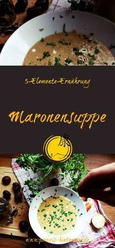 Maronen Suppe Maronen Suppe Maronensuppe Und Maronen