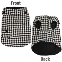 Houndstooth Dog Coat with Collar and Pocket Detailing - Various Sizes Mens Designer Brands, Dog Coats, Four Legged, Houndstooth, Pets, Stylish, Pattern, Heaven, Pocket